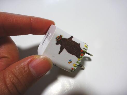 マスキングテープ活用法 スマホ充電グッズ