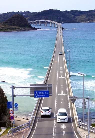 角島大橋、美しすぎる山口県の観光スポット