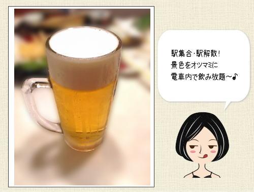 博多駅から出発!ビール&ハイボールトレイン2015