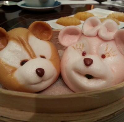 香港ディズニーランドホテルの ディズニー飲茶 ダッフィ