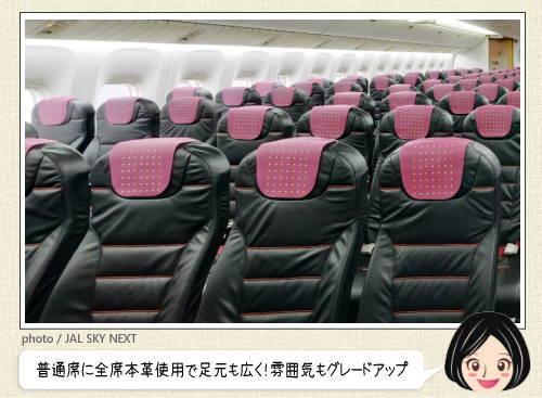 JALのグレードアップした普通席、スカイネクストってどんなシート?