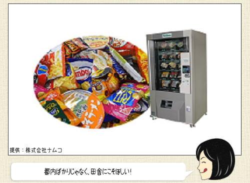 コンビニ自販機!お菓子もカップ麺もパンも全部100円均一