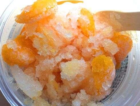みかん氷の美味しい食べ方