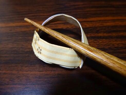 箸袋で箸置き作り アーチ編