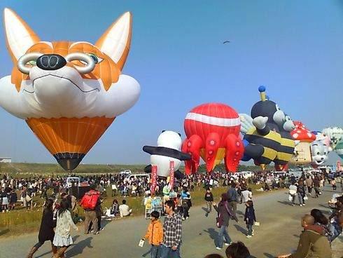 バルーンファンタジア、キャラクターの気球が集合
