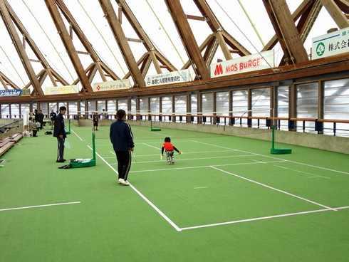 出雲ドームのテニスコート