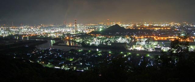 水島コンビナート 工場夜景写真2