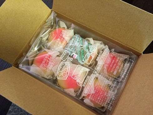 銘菓 岡山のもも、6個入りのお饅頭