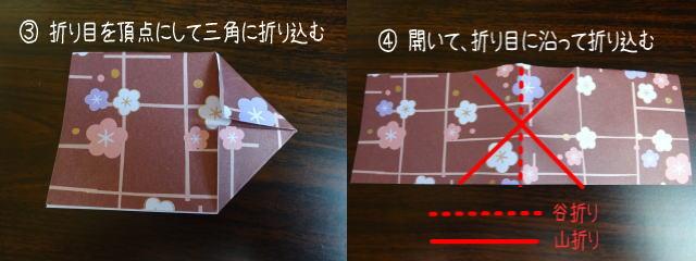 リボン型箸置き 作り方2