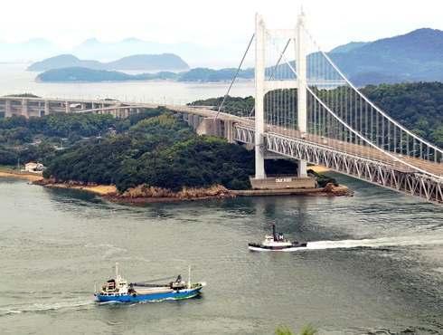 瀬戸大橋をパノラマで見る展望スポット