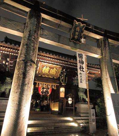 博多ライトアップウォーク、櫛田神社