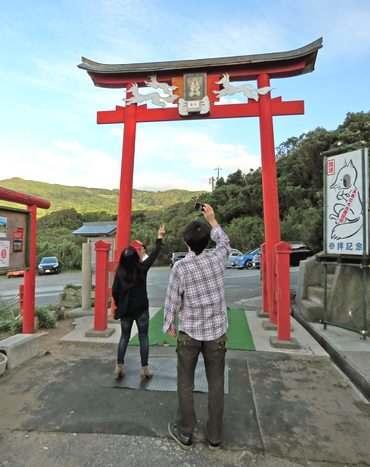 元乃隅稲成神社の賽銭箱