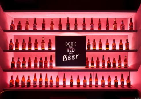 ビールバーも有。泊まれる本屋、BOOK AND BED TOKYO 京都店
