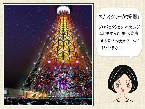 東京スカイツリーがクリスマス限定!プロジェクションマッピングやイルミネーション