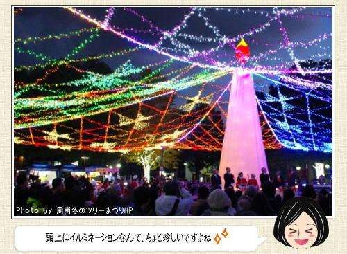 徳山ツリーまつり2015、徳山駅周辺がLED60万球に包まれる