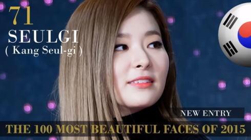 2015世界で最も美しい顔100 71位