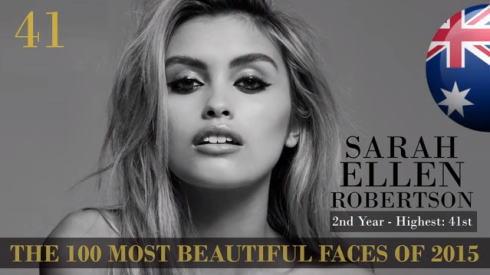 2015世界で最も美しい顔100 41位