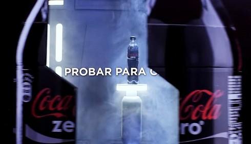 フォースを使うコカコーラの自動販売機