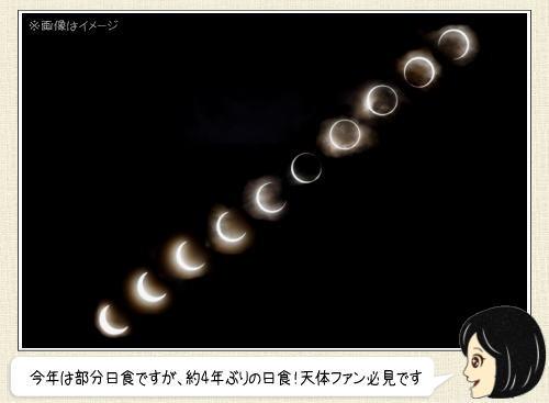 2016年3月9日は4年ぶり日食、太陽が欠ける時間は