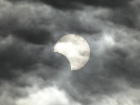 部分日食のイメージ