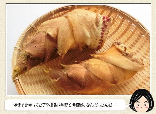 タケノコのあく抜きは、短時間で出来る!料理人が教える簡単な方法