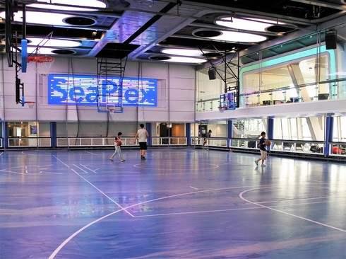 クァンタムオブザシーズの体育館