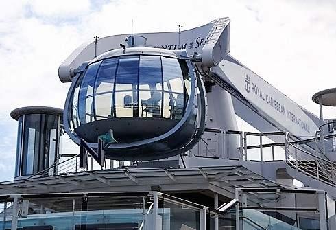 クァンタムオブザシーズ 展望カプセルで空中遊覧