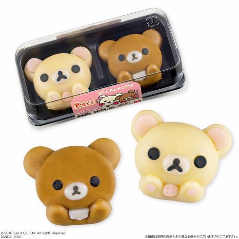 コリラックマ・チャイロイコグマが和菓子に!ローソンから9.27発売