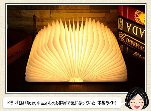 本型ライトがオシャレ!逃げ恥で星野源(津崎平匡)の部屋にあるベッドサイドランプ