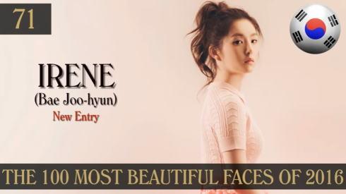 2016年 世界で最も美しい顔100人 71位