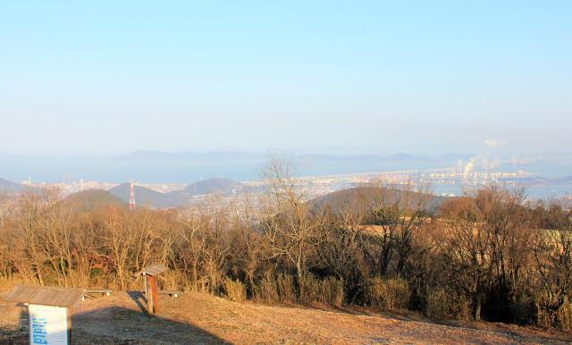 香川 城山展望台から見る瀬戸内海