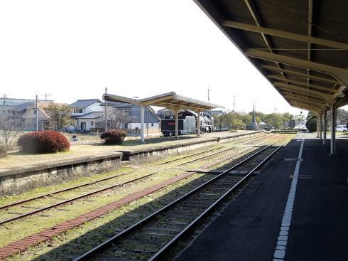島根 旧大社駅 ホームの風景