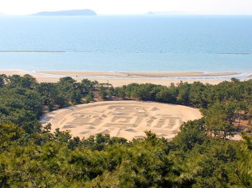 香川・銭形砂絵 展望台から見た様子2