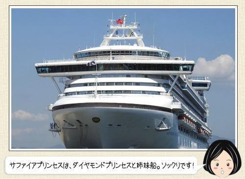 サファイアプリンセス、航海の様子と五日市港への寄港まで