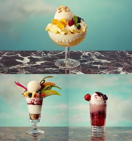 ハーゲンダッツの限定ショップで、贅沢な新感覚のフルーツかき氷!