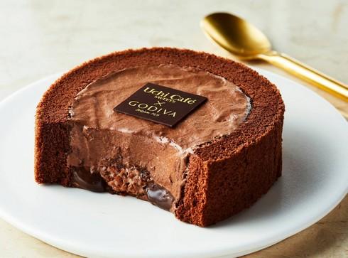 ゴディバがウチカフェとコラボ「ショコラロールケーキ」3週間限定発売