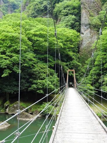 島根県出雲市 立久恵峡 吊り橋