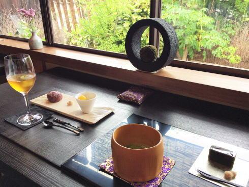 周防大島 お寺カフェ でお茶をいただく