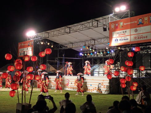 山口七夕ちょうちんまつり 特設ステージ