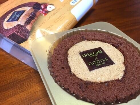 ゴディバのキャラメルショコラロールケーキ