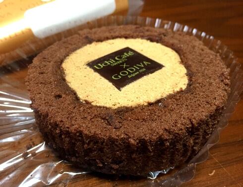 ウチカフェから期間限定、ゴディバのキャラメルショコラロールケーキ