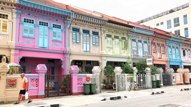 シンガポール カトン地区 プラナカン建築群