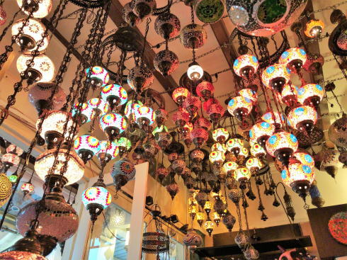 シンガポール アラブストリート(カンポングラム)のランプ店