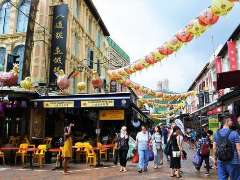 シンガポール チャイナタウン パゴダストリートの風景3