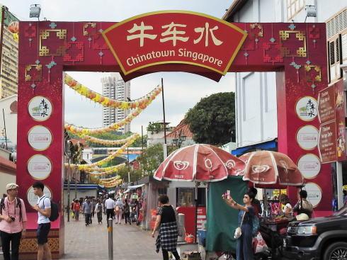 シンガポール チャイナタウン 入口