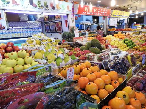 シンガポール チャイナタウン 青果市場