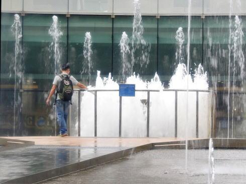 シンガポール 富の噴水 タッチウォーターセッション2