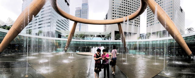 シンガポール 富の噴水 タッチウォーターセッション