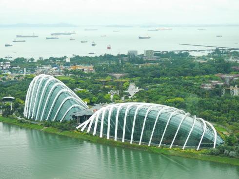 シンガポール ガーデンズバイザベイ フラワードームとクラウドフォレスト