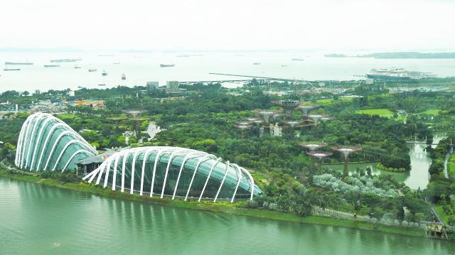 シンガポール ガーデンズバイザベイの俯瞰写真